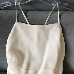 J. Crew Ivory Silk Floor Length Dress Size 6P